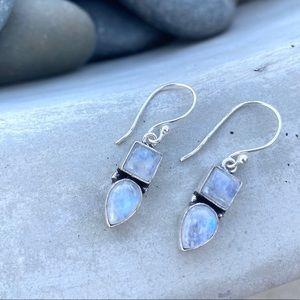 SUNDANCE moonstone sterling silver earrings drops